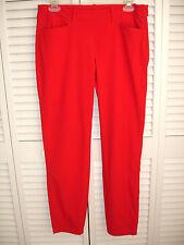 Chervo Sports Womens Golf Pants Stretch Red Sz 8 Small Side Zipper