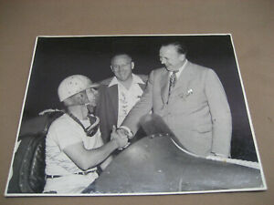 Ralph Pratt Signed Photo Frank H Pat Motor City Speedway Race Detroit 1940's old