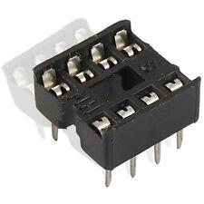 20x 8 Pin 2.54mm Pitch Zoccoli IC Solder Tipo Adaptor Q9I2