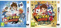 New & Sealed YO-KAI WATCH & YO-KAI WATCH 2 Fleshy Souls Nintendo 3DS Games