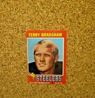 1971 Topps Football #156 Terry Bradshaw (Pittsburgh Steelers) RC
