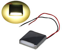 Pactrade Marine Boat Pontoon RV Surface Mount LED S.S Square Courtesy Light 90°