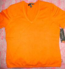 Lauren by Ralph Lauren Hibiscus Mango Orange T Shirt Medium *new w/ tags*