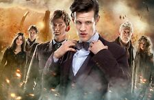 "Dr Doctor Who Imported 17"" X 11"" Poster Print - DAY OF THE DOCTOR - 4 Doctors!"