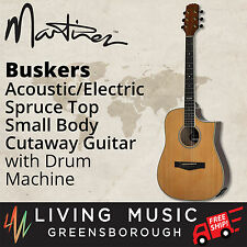 New Martinez Buskers Acoustic-Electric Small-Body Guitar with Drum Machine