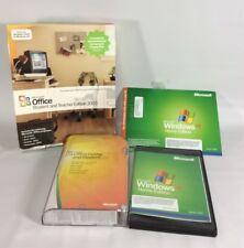 Lot of 4 Microsoft MS Home Student 2007 Student Teacher 2003 Windows XP Home Key