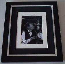 Steve Davis SIGNED 10x8 FRAMED Photo Autograph Display Snooker AFTAL & COA
