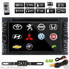 "Double 2Din 6.2"" In Dash Stereo Radio Car DVD CD Player Bluetooth No GPS+Camera"