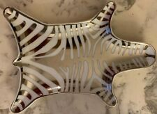 NEW Jonathan Adler - SILVER/White Zebra Stripes Small Porcelain Tray - Zebra