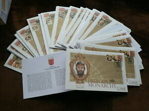 History of the Monarchy Commemorative GB Covers,  2008 - 2010, Kings & Queens