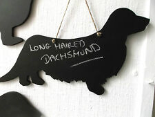 Wire Haired DACHSHUND DOG SHAPE chalkboard blackboard Christmas gift pet