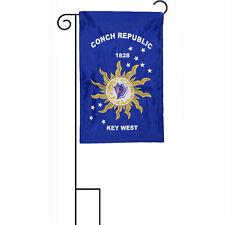 "12x18 12""x18"" Conch Republic Key West 1828 2ply Sleeved w/ Garden Stand Flag"