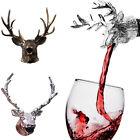 Wine Bottle Sealer Cork Pourer Stopper Antler Stag Red Wine Deer Head New GUT
