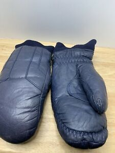 Vintage Leather Goose Down Conroy Mittens Ladies L Great Shape Comfy