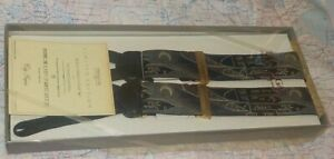 rare TRAFALGAR SUSPENDERS Limited Edition Braces  CITY SCAPES  New in Box