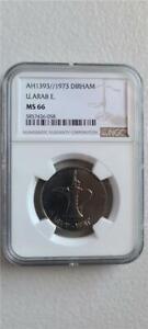 United Arab Emirates 1 Dirham AH 1393 / 1973 NGC MS 66