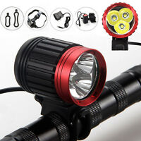 10000LM Rechargeable Bike Bicycle 3x CREE XML T6 LED Front Head Light Headlamp