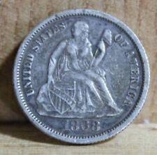 1868 Seated Liberty Dime