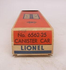 BX Lionel Postwar 6562-25 Canister Car - Empty Box
