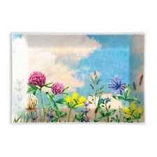 Michel Design Works Glass Trinket / Soap Dish Cloud Nine Floral - NEW
