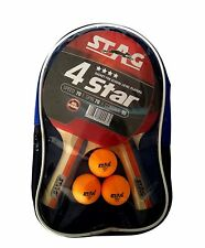 Table Tennis Sports Play Set- 2 Racquets / Bats and 3 Balls- 4 Star
