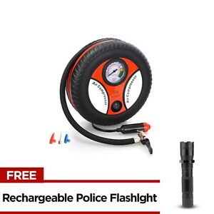 260PSI Auto Car Electric Tire Inflator with Rechargeable Police Flashlight