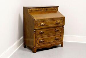 DAVIS CABINET Lillian Russell Solid Walnut Victorian Slant Drop Front Desk 1