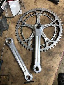 Vintage Road Bicycle Parts. Campagnolo Super Record Crankset. 170mm