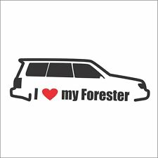 I Love My Forester Car Bumper Window Vinyl Decal Sticker STi EJ25 AWD Turbo JDM