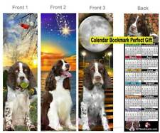 3 set-English Springer Spaniel 2021 Calendar Bookmark Dog Red Liver Perfect Gift