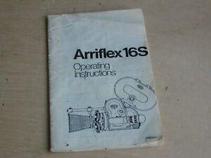 Arriflex-16S, Arri-SB 16MM Camera Operating Instructions Booklet