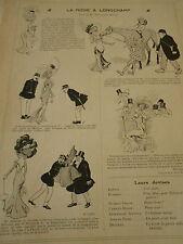La Mode à Longchamp Print Art Déco 1908