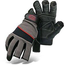 Boss Gloves 5201L The Carpenter Glove, Three Open Finger Tips, Large
