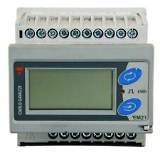 EM21 Energy Management Electric Meter Removable LCD Display Three Phase 400V 6A