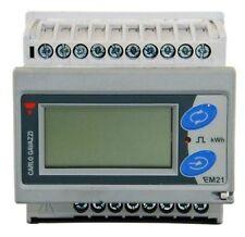 Carlo Gavazzi 3 fases kWh Digital Medidor de energía eléctrica EM21 72DAV5 LCD Carril Din