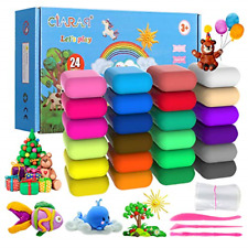 iFergoo Air Dry Clay Kit, 24 Colors Modeling Clay for Kids,with free tools and