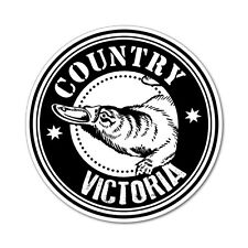 Country Platypus Vic Round Sticker Aussie Car Flag 4x4 Funny Ute #5196EN