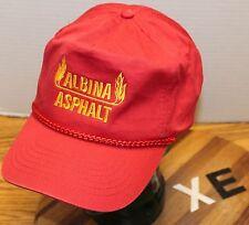 ALBINA ASPHALT VANCOUVER WASHINGTON HAT RED SNAPBACK ADJUSTABLE VGC XE
