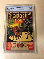 Fantastic Four #11 CBCS 4.0 ORIGIN/1ST IMPOSSIBLE MAN  KEY 1963 KIRBY