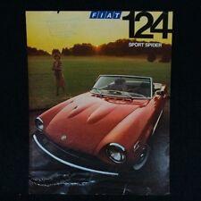 Original Fiat 124 Sport Spider Brochure