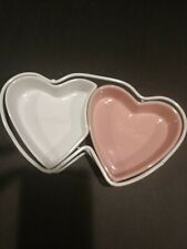 Ceramic Cat Spoiled Rotten Heart Shaped Feeding Dish Set