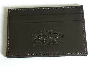 Jack Daniels Single Barrel - 2 Card Holder Wallet - brown leather look  - unused