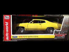 1971 Ford Torino Cobra Yellow 1:18 Auto World 1049