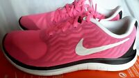 New Nike Womens Free 4.0 V5 Running Shoes 718412 617 Pink Pow White Black Sz 7.5