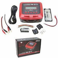 Hitec 44232 X2 AC Plus 2 Port AC/DC Multi Battery Charger Lipo LiFe LiIon NiMH