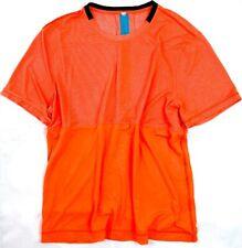 LULULEMON MEN'S ORANGE METAL VENT TECH PRECISION SHORT SLEEVE SHIRT XL