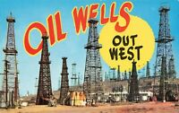 Postcard Oil Wells Out West