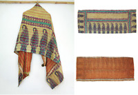 Silk Scarf Neck Wrap Stole veil Kantha Embroidered Scarf Veil Boho Scarves