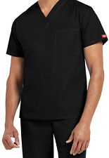 Dickies Medical Men's EDS Signature Black One Pocket Top Sz Large NWT