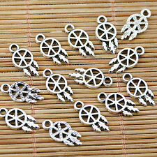 60pcs tibetan silver tone 7mm wide Hot Wheel design charms EF1572